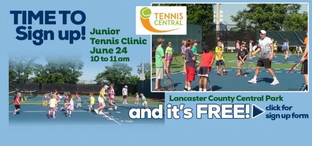 Free Junior Tennis Clinic June 29th